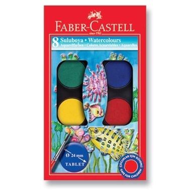 Faber Castell Suluboya 8 Renk Küçük Boy Renkli